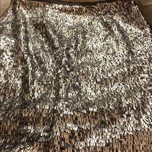 Chico's zip up shimmery skirt